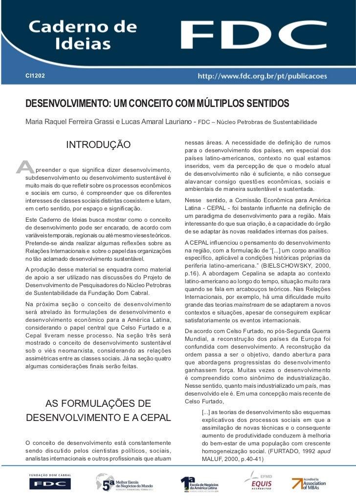 Gestão Estratégica do Suprimento e o Impacto noCI1202   Desempenho das        Empresas BrasileirasDesenvolvimento: Um Conc...