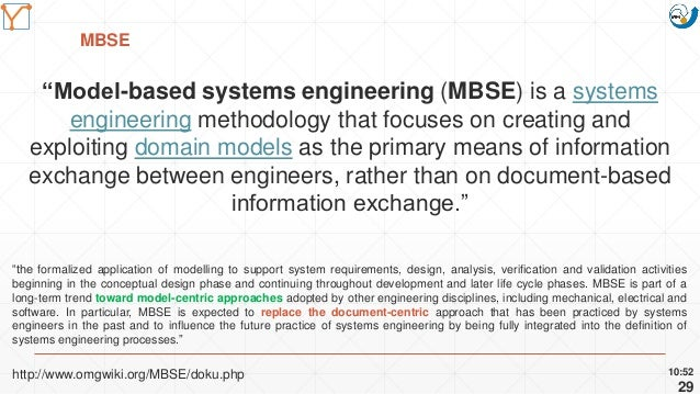 """Mission Simulation Lab HICEE Mission Simulation Lab HICEE MBSE 10:52 29 """"Model-based systems engineering (MBSE) is a syste..."""