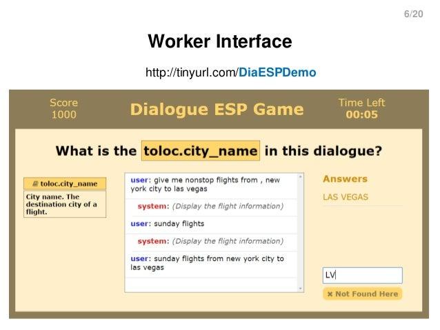 6/20 Worker Interface http://tinyurl.com/DiaESPDemo