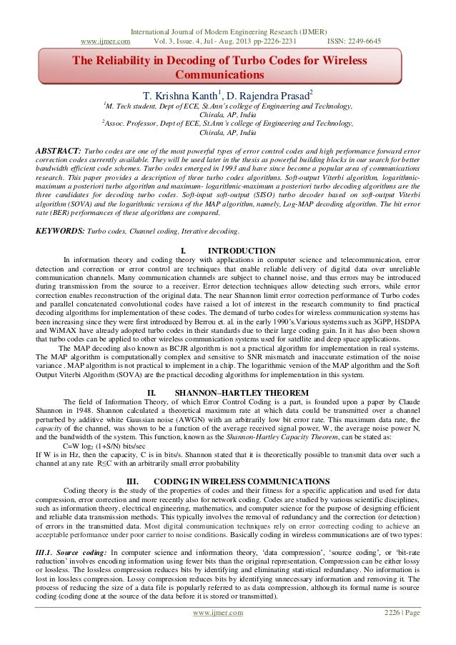 International Journal of Modern Engineering Research (IJMER) www.ijmer.com Vol. 3, Issue. 4, Jul - Aug. 2013 pp-2226-2231 ...