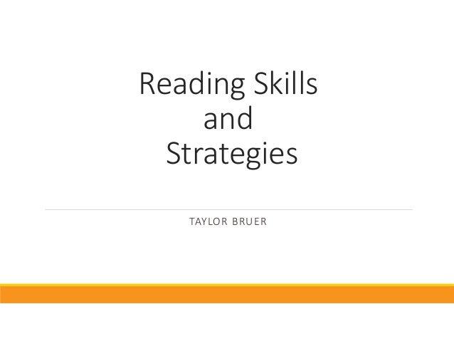 ReadingSkills and Strategies TAYLORBRUER