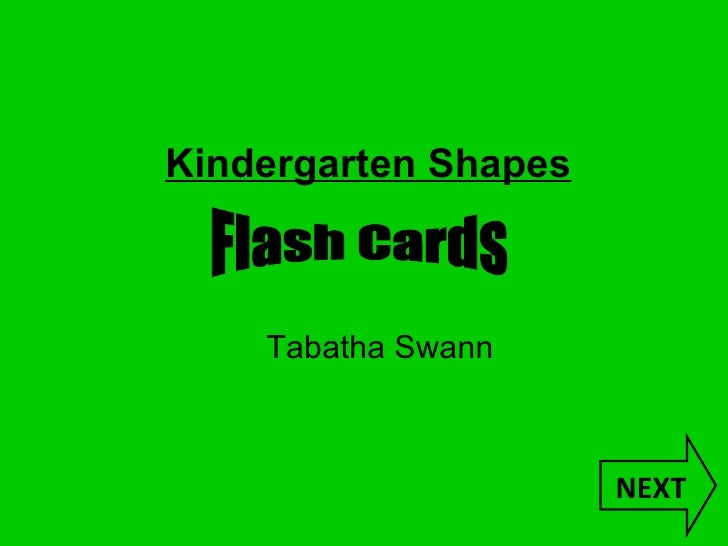 NEXT Kindergarten Shapes Tabatha Swann   Flash Cards