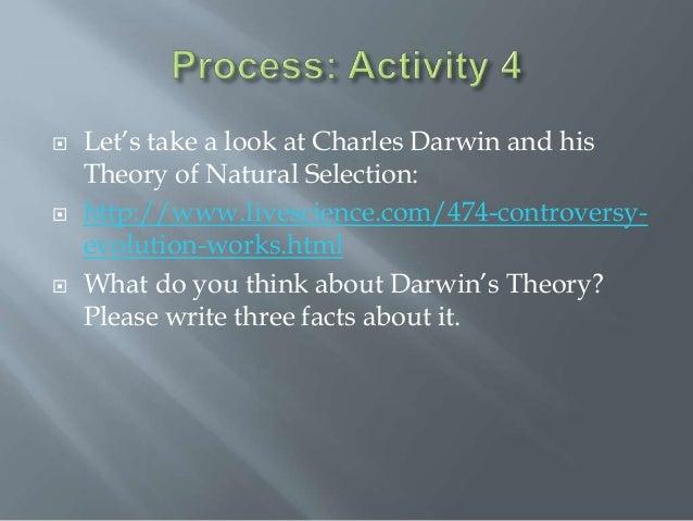 Darwin S Theory Of Natural Selection Chart
