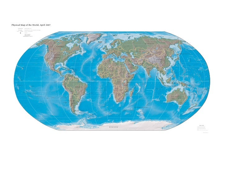 Physical Map of the World, April 2007                      AUSTRALIA                          Independent state           ...
