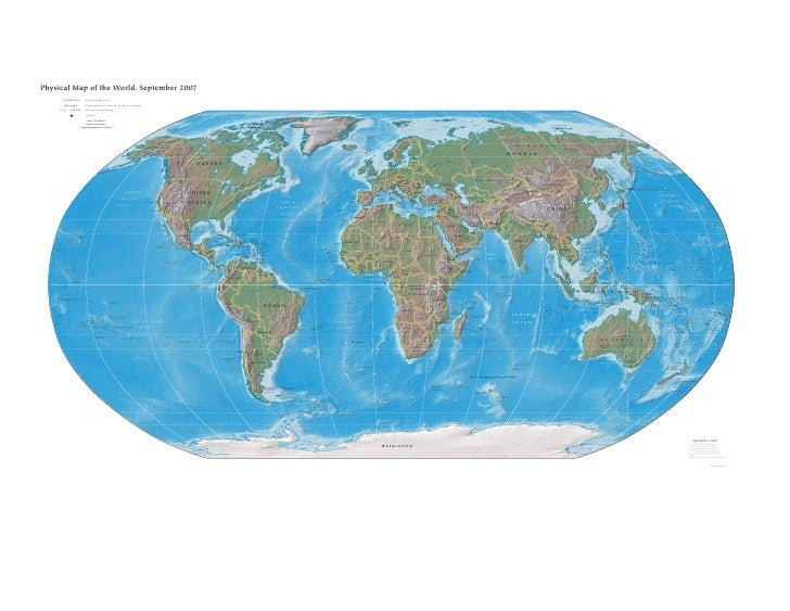 Physical Map of the World, September 2007                      AUSTRALIA                          Independent state       ...