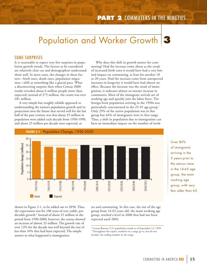 PART 2 COMMUTERS IN THE NINETIES                                                    Population and Worker Growth 3SOME SUR...
