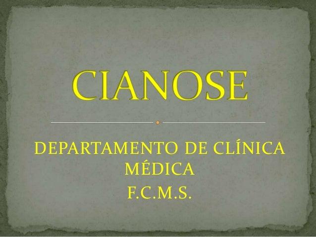 DEPARTAMENTO DE CLÍNICA MÉDICA F.C.M.S.