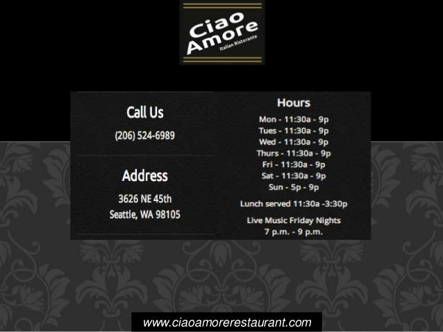 www.ciaoamorerestaurant.com