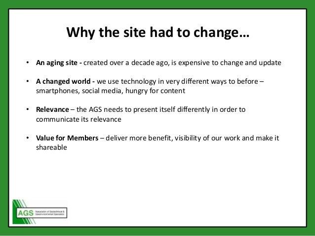 AGS Members' Day 2015 - Website Presentation Slide 2