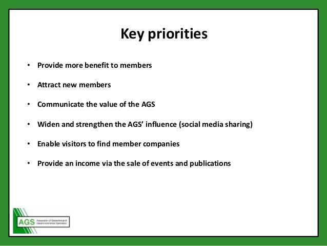 AGS Members' Day 2015 - Website Presentation Slide 3