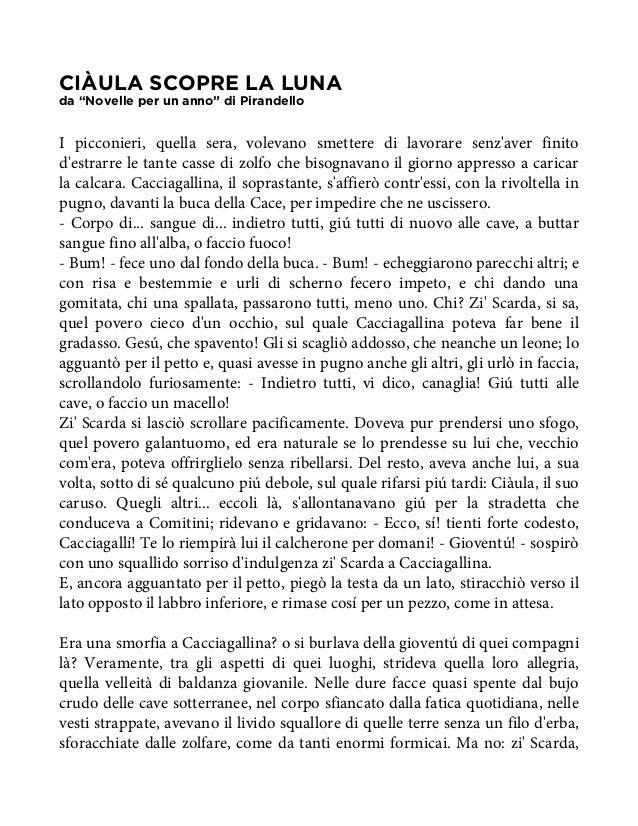 """CIÀULA SCOPRE LA LUNAda """"Novelle per un anno"""" di PirandelloI picconieri, quella sera, volevano smettere di lavorare senzav..."""