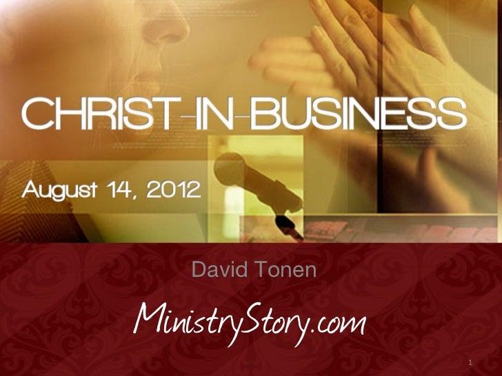 David TonenMinistryStory.com                    1