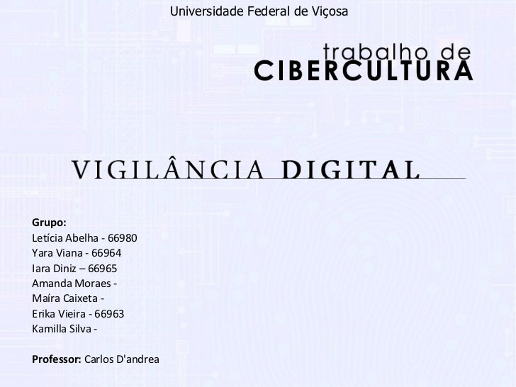 Grupo:   Letícia Abelha - 66980 Yara Viana - 66964 Iara Diniz – 66965 Amanda Moraes - Maíra Caixeta - Erika Vieira - 66963...