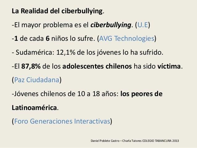 La Realidad del ciberbullying.-El mayor problema es el ciberbullying. (U.E)-1 de cada 6 niños lo sufre. (AVG Technologies)...