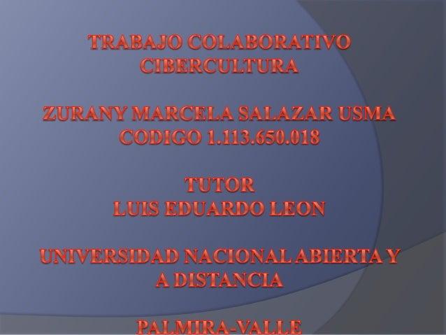 Cibercultura unad 2013
