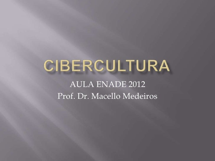 AULA ENADE 2012Prof. Dr. Macello Medeiros