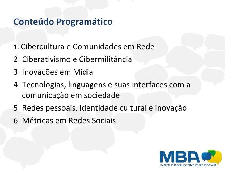 Cibercultura e redes sociais - aula 01 Slide 2