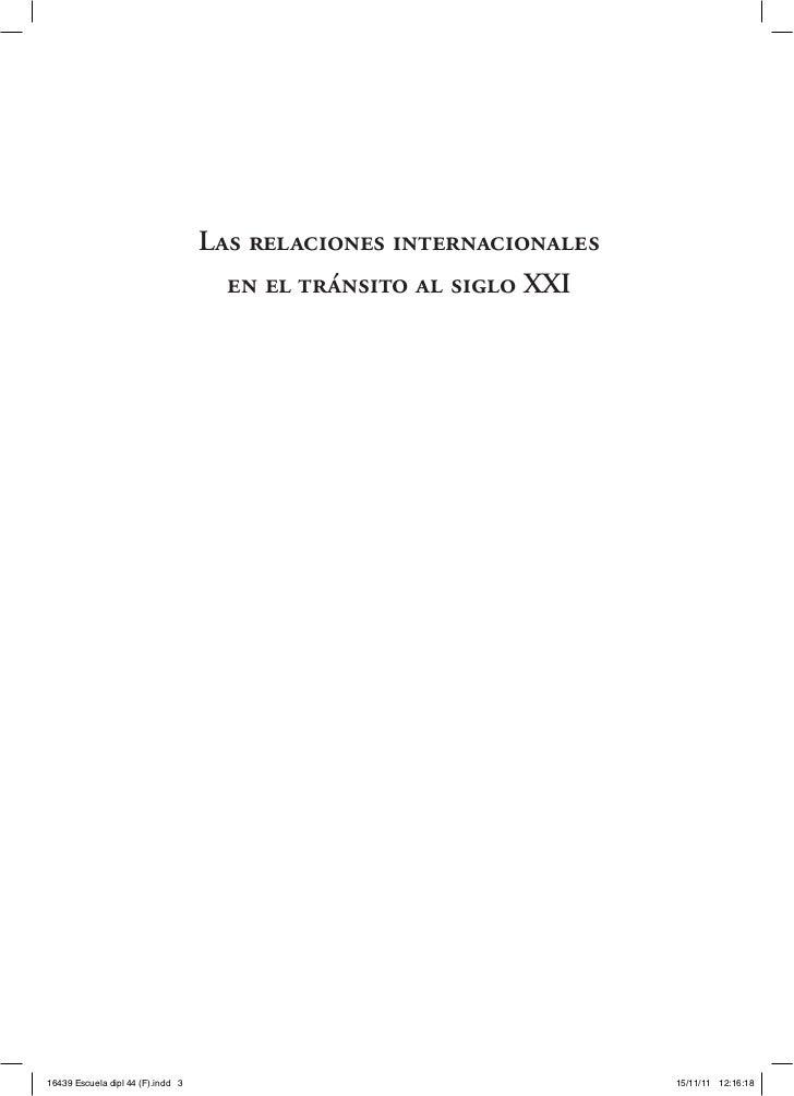 Las relaciones internacionales                                     en el tránsito al siglo XXI16439 Escuela dipl 44 (F).in...