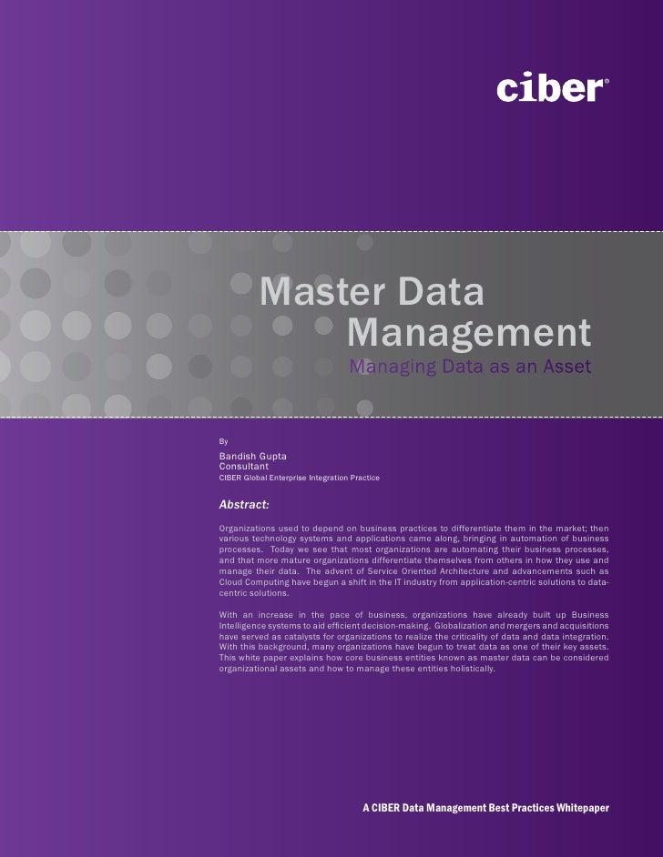 Ciber Master Data Management
