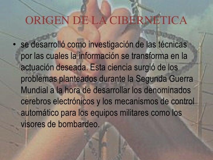 FUNDADOR DE CIBERNETICA• Wiener, Norbert (1894-1964), matemático  estadounidense• se especializó en matemáticas y en físic...