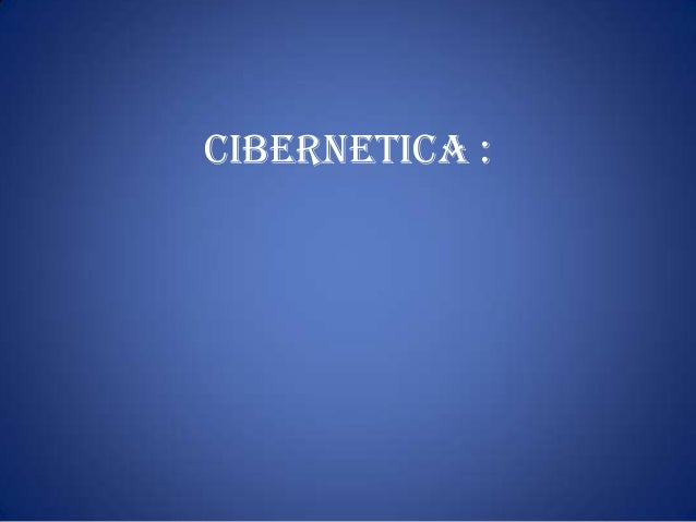 cibernetica :