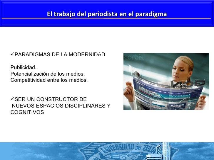 <ul><li>PARADIGMAS DE LA MODERNIDAD  </li></ul><ul><li>Publicidad. </li></ul><ul><li>Potencialización de los medios.  </li...