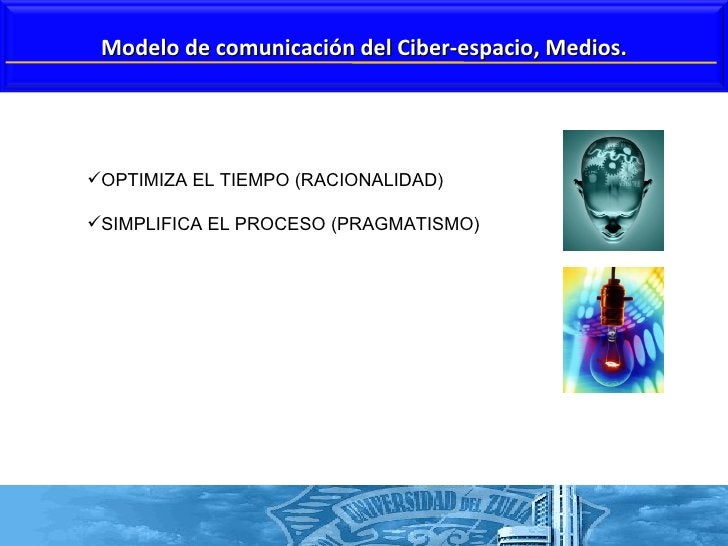 <ul><li>OPTIMIZA EL TIEMPO (RACIONALIDAD) </li></ul><ul><li>SIMPLIFICA EL PROCESO (PRAGMATISMO) </li></ul>Modelo de comuni...