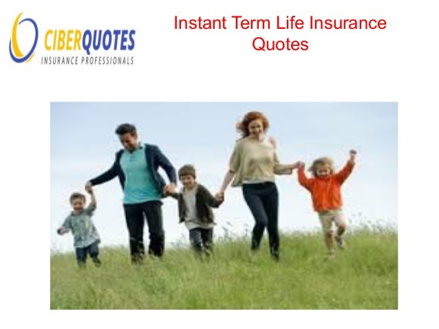 Term Life Insurance Quote; 5.