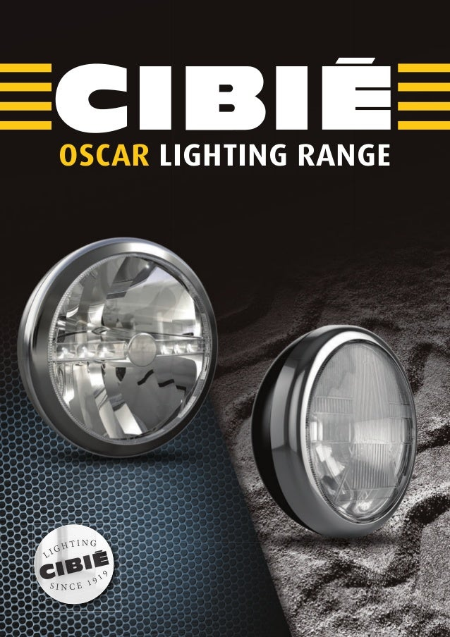 Cibié OSCAR additional headlight range 2014 968317 English catalogue