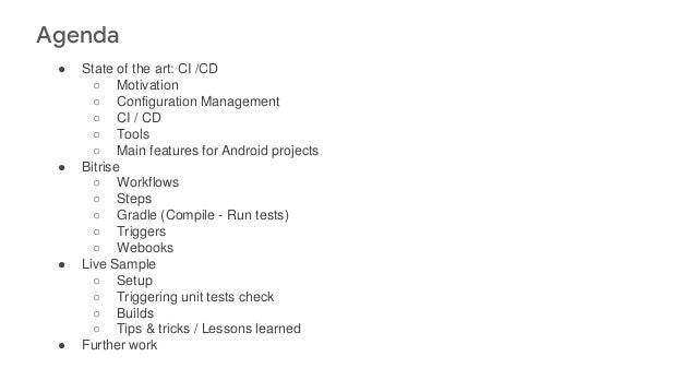 Continuous Integration & Delivery for Mobile apps development Slide 2
