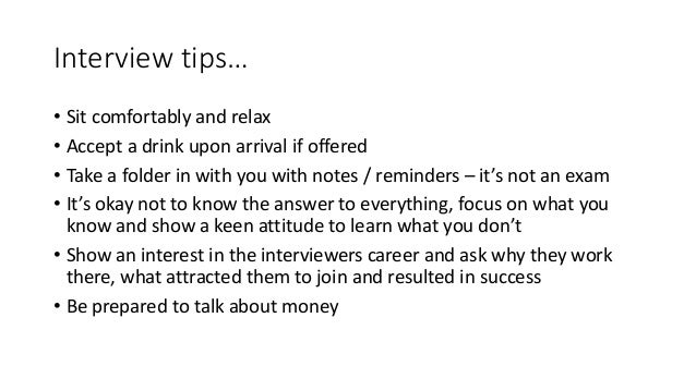 Richard Ackroyd - job search with pre and post interview advice