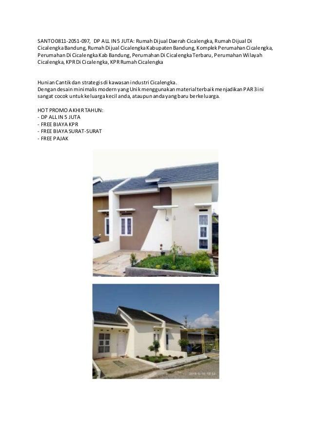 SANTO0811-2051-097, DP ALL IN 5 JUTA: RumahDijual DaerahCicalengka,RumahDijual Di CicalengkaBandung,RumahDijual Cicalengka...