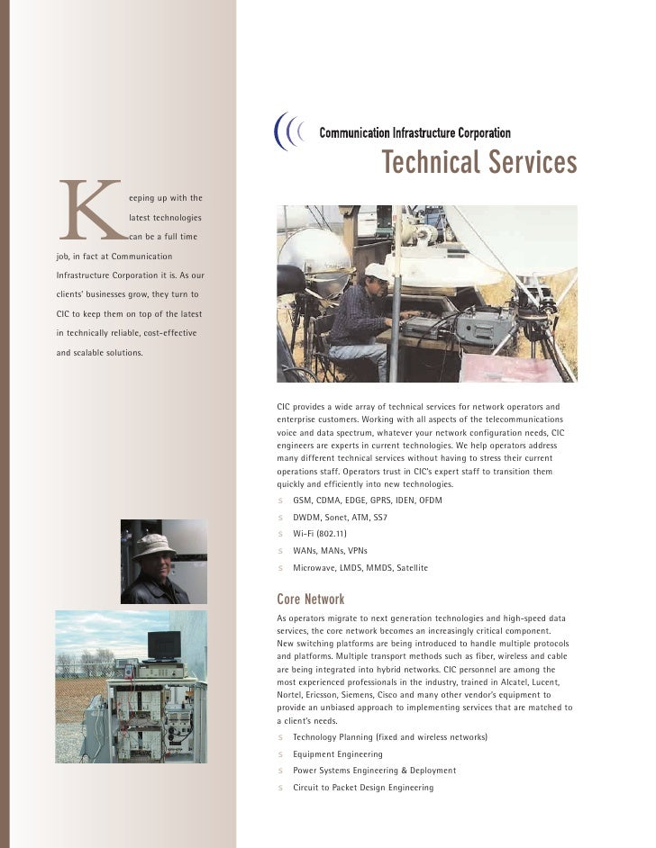 Technical Services  K                   eeping up with the                      latest technologies                      c...