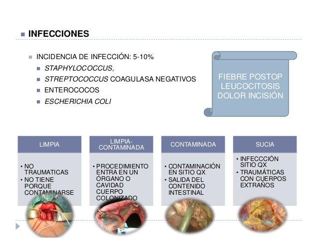  INFECCIONES  INCIDENCIA DE INFECCIÓN: 5-10%  STAPHYLOCOCCUS,  STREPTOCOCCUS COAGULASA NEGATIVOS  ENTEROCOCOS  ESCHE...