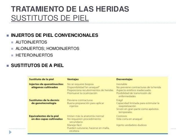 TRATAMIENTO DE LAS HERIDAS SUSTITUTOS DE PIEL  INJERTOS DE PIEL CONVENCIONALES  AUTOINJERTOS  ALOINJERTOS; HOMOINJERTOS...