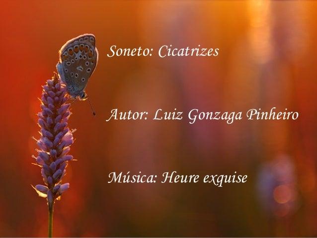 Soneto: Cicatrizes Autor: Luiz Gonzaga Pinheiro Música: Heure exquise