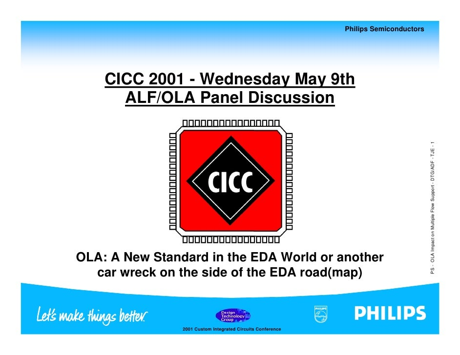 Philips Semiconductors         CICC 2001 - Wednesday May 9th       ALF/OLA Panel Discussion                               ...
