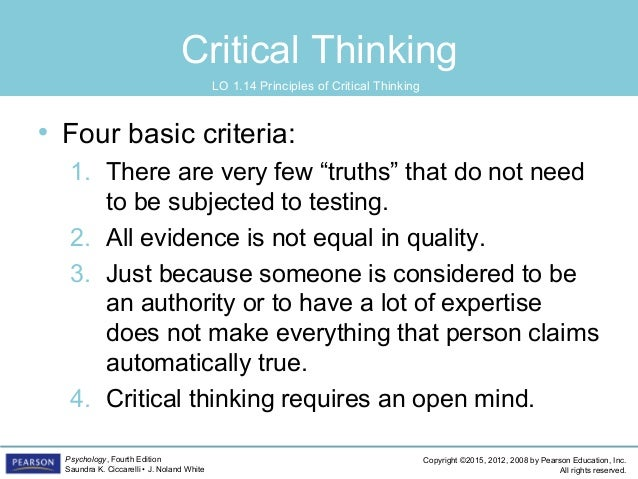 """pearson education critical thinking She has co-authored a textbook, """"critical reading, critical thinking: focusing on contemporary issues,"""" which is in its 4 th edition for pearson education in 2009 she received a fulbright specialist scholarship to south africa, focusing on literacy."""