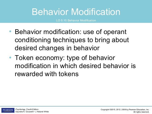 behaviour modification of drinking water using operant conditioning Operant conditioning the idea of punishment is applied to change an adult's behavior behavior modification techniques for adults.