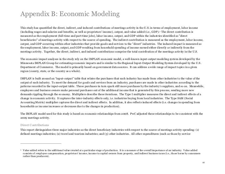 Appendix B: Economic ModelingThis study has quantified the direct, indirect, and induced contributions of meetings activit...