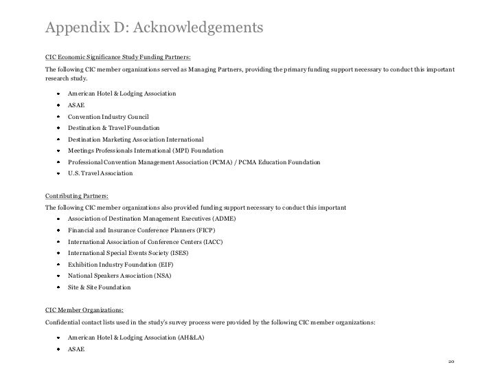 Appendix D: AcknowledgementsCIC Economic Significance Study Funding Partners:The following CIC member organizations served...