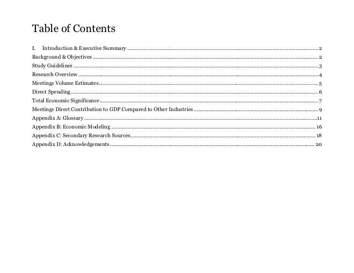 Table of ContentsI.    Introduction & Executive Summary .....................................................................