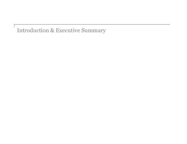 Introduction & Executive Summary