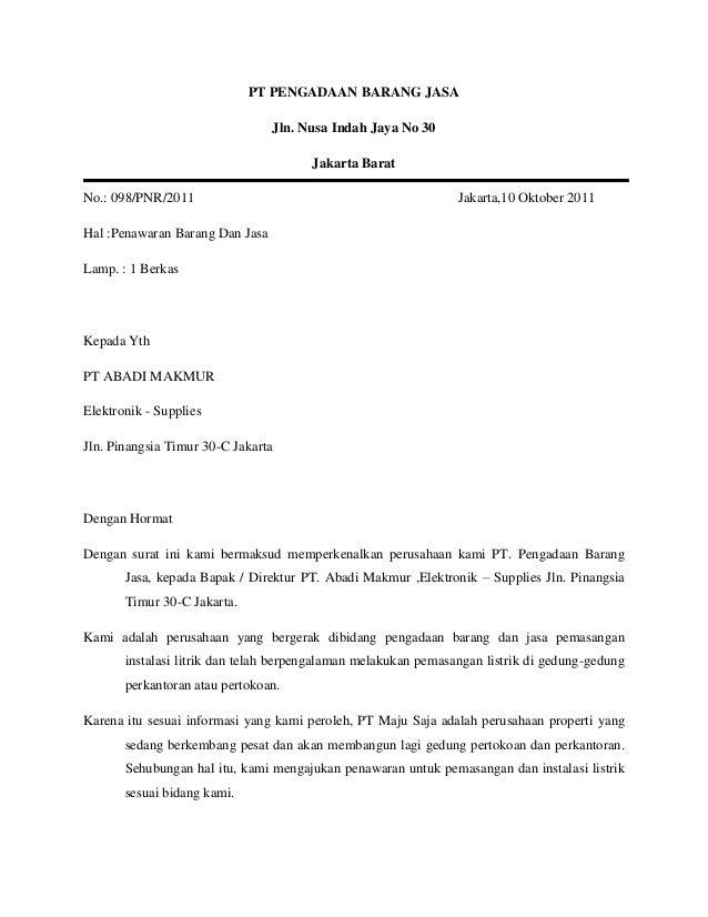 Contoh Surat Penawaran Barang Elektronik Ac Surat 29