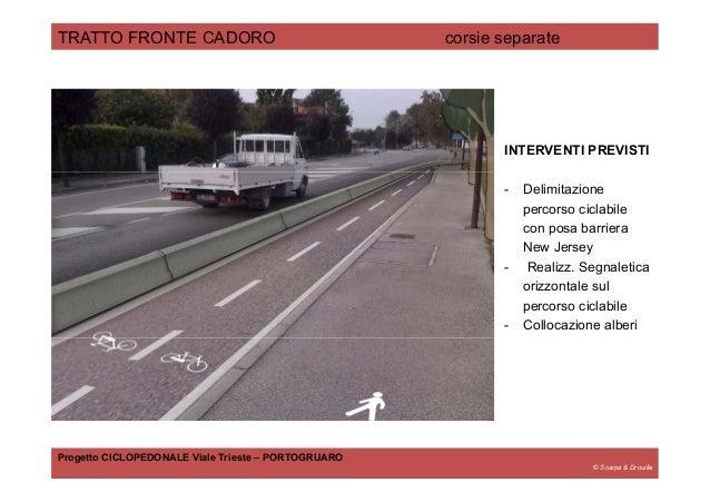 © Scarpa & Drouille TRATTO FRONTE CADORO corsie separate Progetto CICLOPEDONALE Viale Trieste – PORTOGRUARO INTERVENTI PRE...