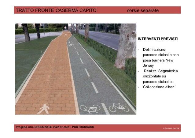 © Scarpa & Drouille TRATTO FRONTE CASERMA CAPITO' corsie separate Progetto CICLOPEDONALE Viale Trieste – PORTOGRUARO INTER...