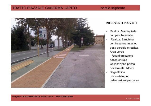 © Scarpa & Drouille TRATTO PIAZZALE CASERMA CAPITO' corsie separate Progetto CICLOPEDONALE Viale Trieste – PORTOGRUARO INT...