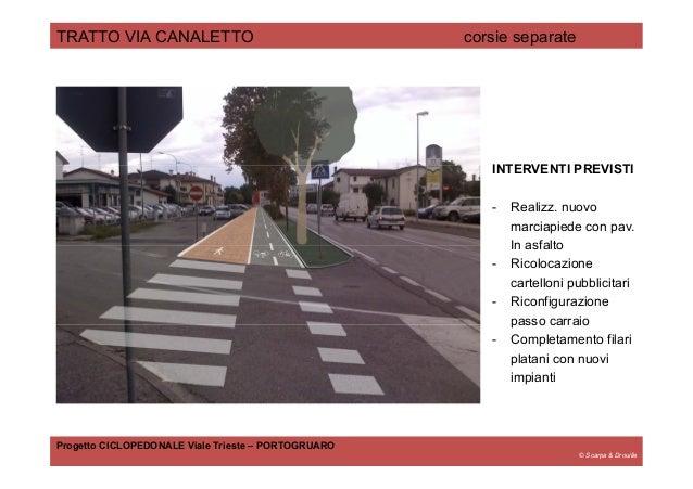 © Scarpa & Drouille TRATTO VIA CANALETTO corsie separate Progetto CICLOPEDONALE Viale Trieste – PORTOGRUARO INTERVENTI PRE...