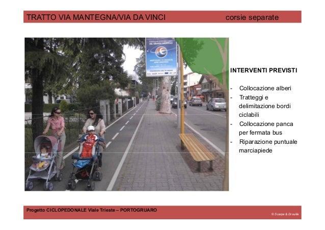 © Scarpa & Drouille TRATTO VIA MANTEGNA/VIA DA VINCI corsie separate Progetto CICLOPEDONALE Viale Trieste – PORTOGRUARO IN...