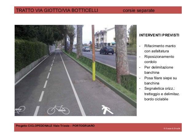 © Scarpa & Drouille TRATTO VIA GIOTTO/VIA BOTTICELLI corsie separate Progetto CICLOPEDONALE Viale Trieste – PORTOGRUARO IN...